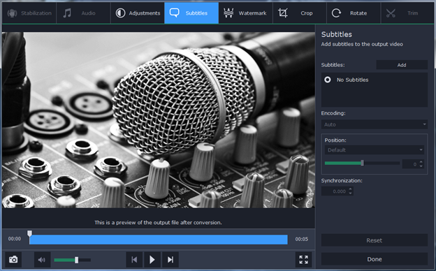 Extract Audio From Video With Movavi