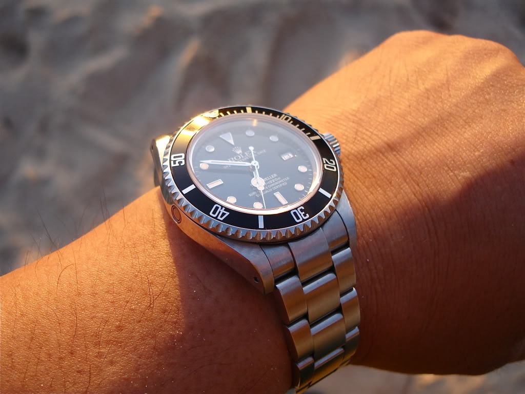 Rolex on wrist after Rolex Watch Repair